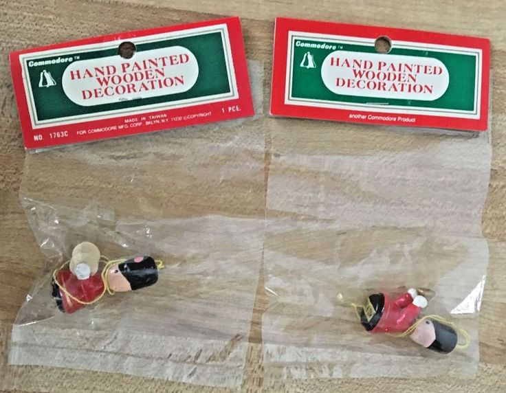 Marching Band Christmas Ornaments Part - 39: Vintage 2 Commodore Wooden Miniature Marching Band Soldiers Christmas  Ornaments