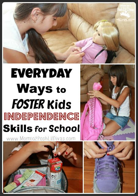 Everyday ways to foster kids independence skills for school readiness - this is so important for those headed to school for the first time. How do you foster your child's independence at home to get them ready to do things for themselves at school?