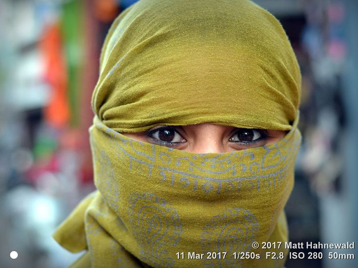 https://flic.kr/p/XepeA8 | 2015-04b Eyes Only (48) 2016 (21) | Closeup street portrait (outdoor headshot, full-face view) of a young Indian woman with beautiful eyes, covering her hair and face with a trendy secular, yellow headscarf; Bhuj, Gujarat, Western India.  More context: Fantasising about Masked Beauties (photo blog), Ignoring For Eyes Only (photo blog), Varying the Facial View of Portraits (photo blog).