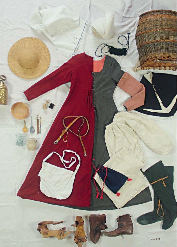 Kleidung und Ausrüstung einer Frau um 1500 in Südwestdeutschland    Women's look around 1500 in southwestern Germany  www.um1504.de