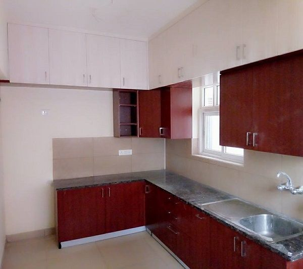 Modular Kitchen Interior Designed For Prestige Tranqulity 2bhk Flat