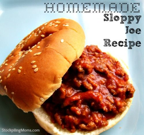 Sloppy Joes are a quick and easy meal for any weeknight! Here's a homemade sloppy joe recipe from @Melissa Squires Squires Jennings StockpilingMoms.com that you won't want to miss!