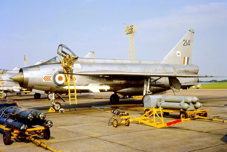 English Electric Lightning 65 Sqn, RAF Coltishall summer of 1973.