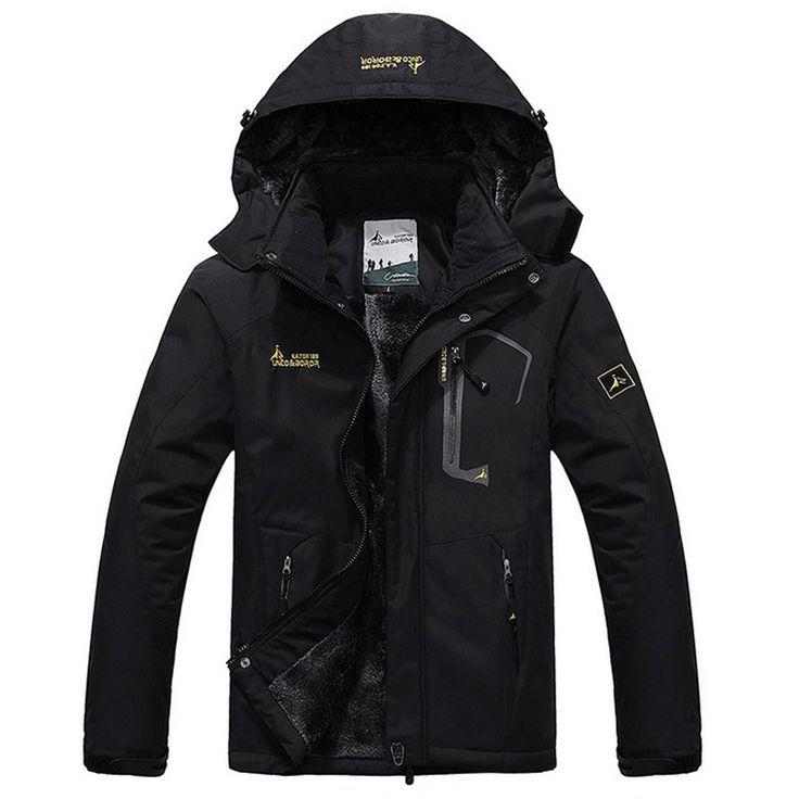 Winter Jacket Men Thick Velvet Coat Thermal Warm Windproof Hood Jackets Mens Outwear Parka Homme Jaqueta Men's Casual Coats