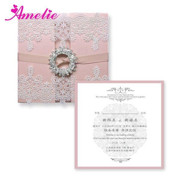 Com FEDEX / DHL frete grátis 50 peças/lote com fivela de casamento convites cartões de casamento convite cartão de casamento de luxo