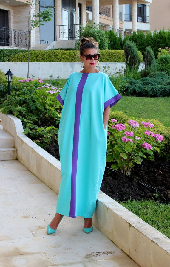 Hey, I found this really awesome Etsy listing at https://www.etsy.com/uk/listing/196438535/mint-maxi-dress-cotton-knit-caftan-dress