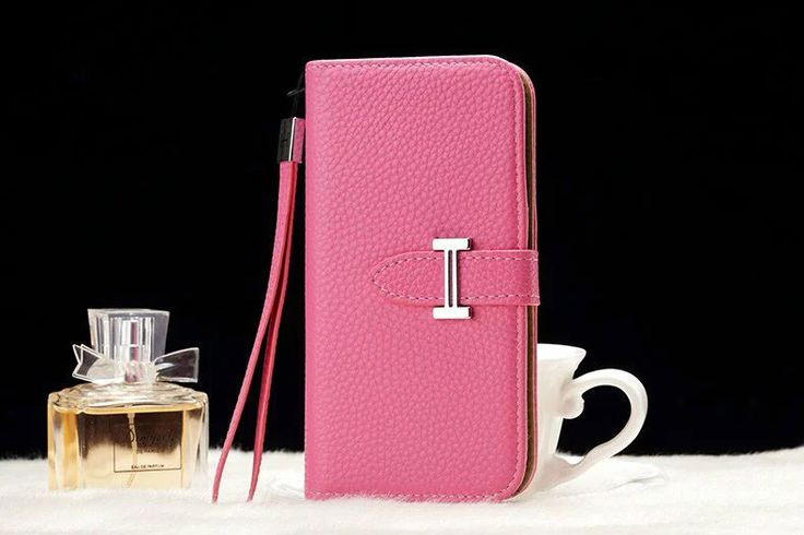 Leather hermes Galaxy Note 5 Edge Wallet Case Pink