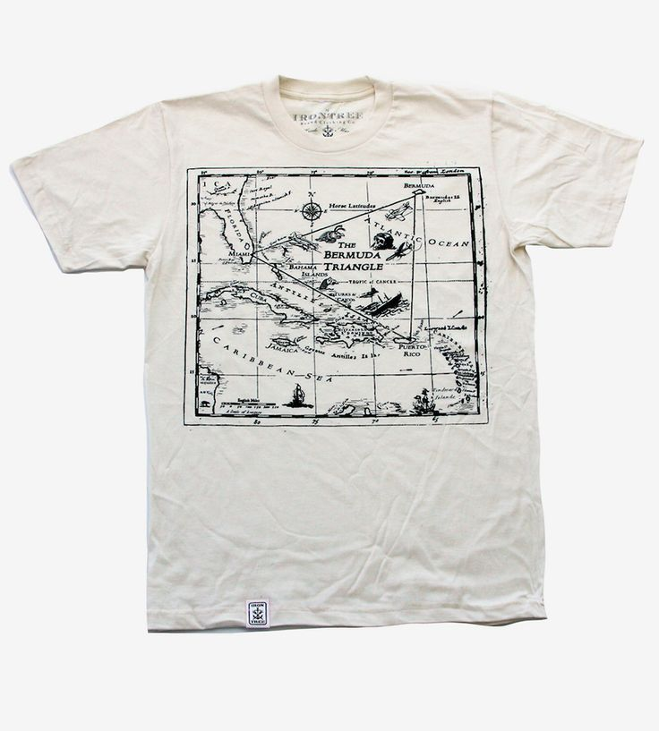 Men's Bermuda Triangle Map Fitted T-Shirt by Irontree Clothin on Scoutmob  Style  2 3Xl