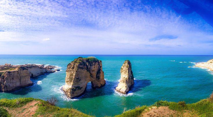 Raouche rocks Beirut Lebanon [OC][3264x2448] http://ift.tt/2FiXIXf