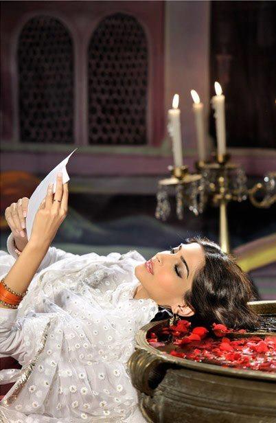 Sonam as Meena Kumari from the movie Pakeezah