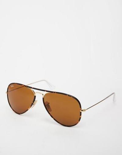 rayban aviator sunglasses  brown #rayban #eyewear #sunglasses #accessories #designer #covetme
