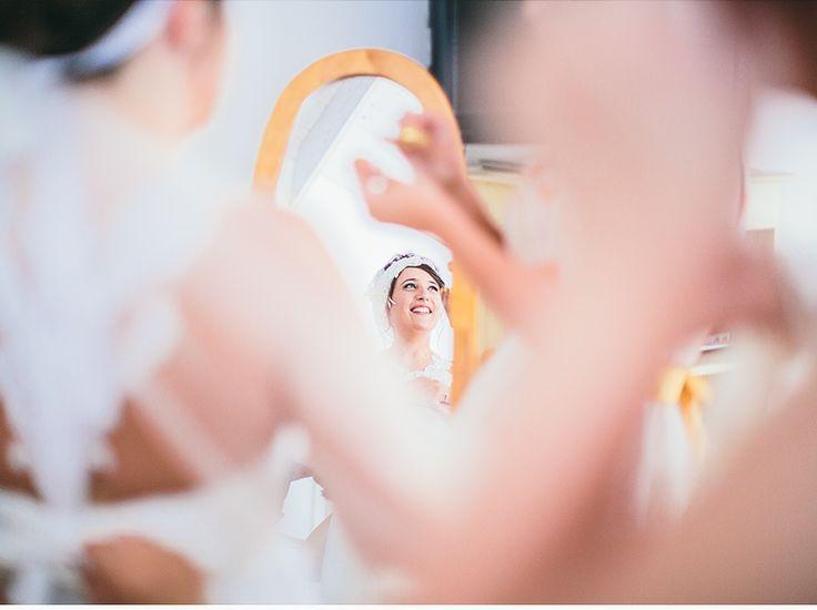 Emma putting wedding dress on 3 - Drysdale Home, Victoria