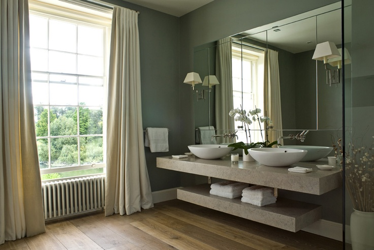 Farrow and Ball Pigeon Modern country bathroom