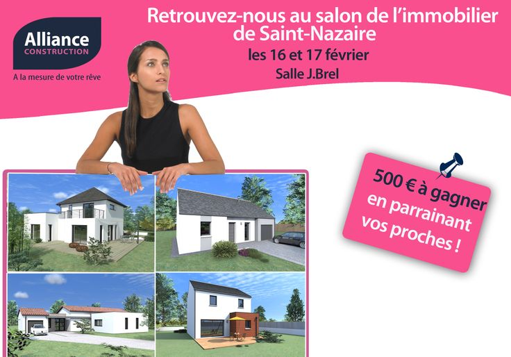 Les 16 et 17 février prochains, la salle Jacques Brel à St Nazaire accueillera le salon de l'immobilier de St Nazaire, l'occasion de nous rencontrez pour discuter de votre projet immobilier.