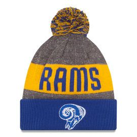 Youth Los Angeles Rams New Era Heather Gray 2016 Sideline Official Classic Pom Knit Hat