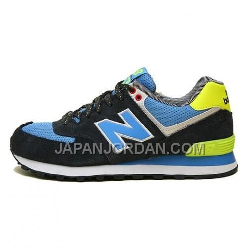 NEW BALANCE 574 MENS BLACK YELLOW BLUE SHOES 割引販売, Only¥7,598 , Free Shipping! http://www.japanjordan.com/new-balance-574-mens-black-yellow-blue-shoes.html