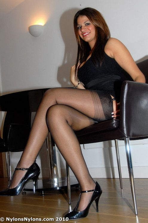Smoking in pantyhose sexy