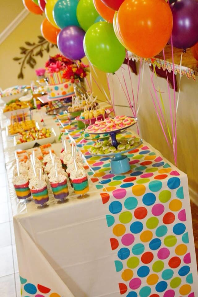 Rainbow Polka Dot birthday!