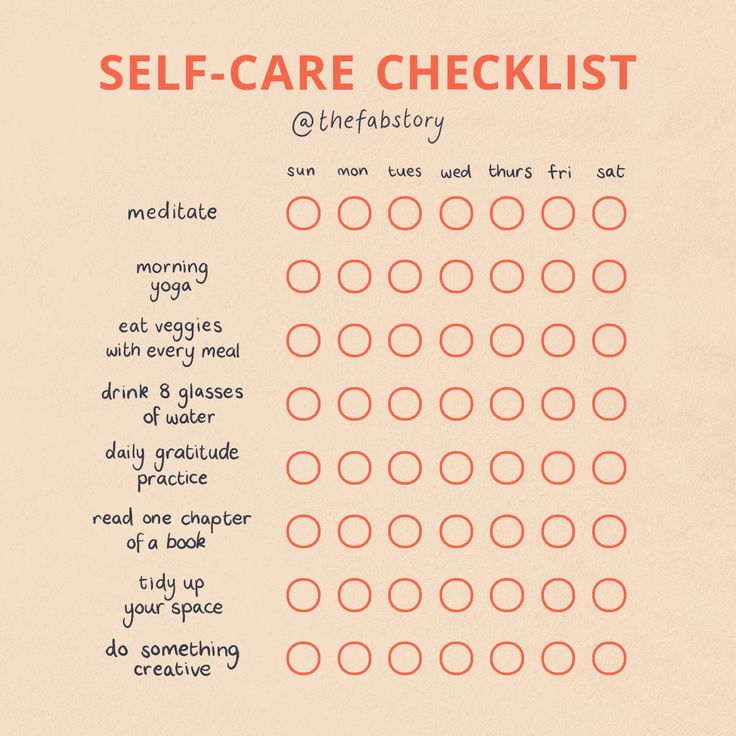 11 Self Care Checklists to Take Care of Your Daily Needs