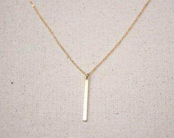 Bar ketting / gouden gelaagdheid ketting / sierlijke Bar ketting / bruidsmeisje/verjaardag cadeau idee