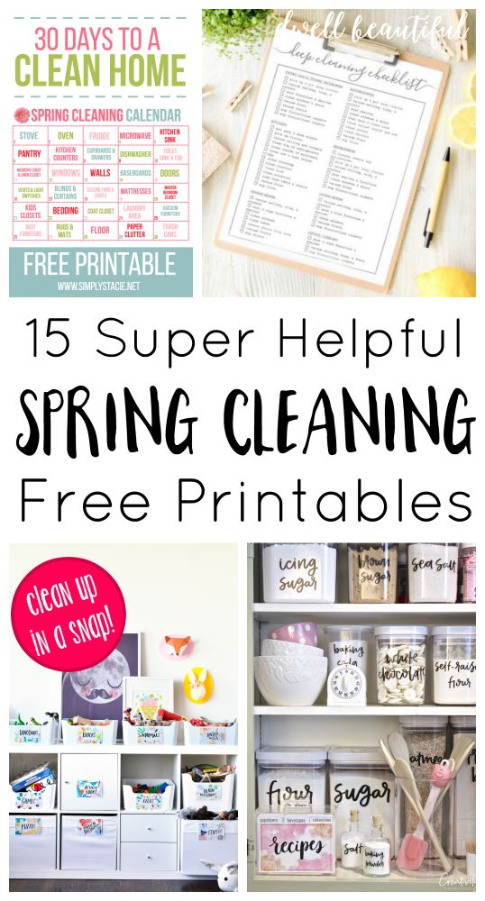 15 Helpful Spring Cleaning and Organization Printables - get your home and yard spic and span with these super helpful and inspiring free home printables!