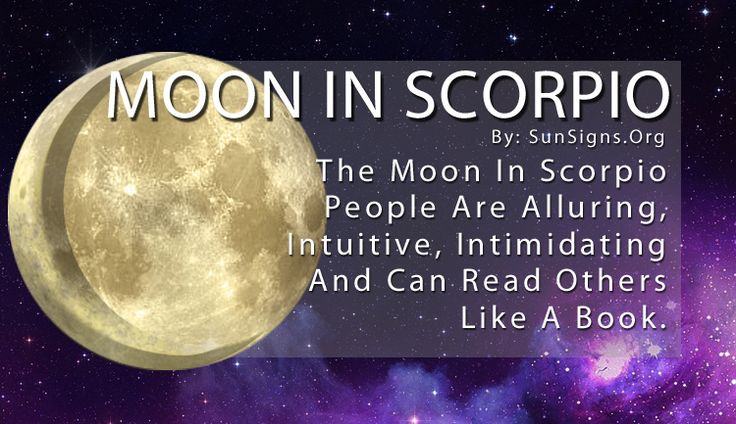 The Moon in Scorpio makes them incredibly intuitive and they can read people like a book.