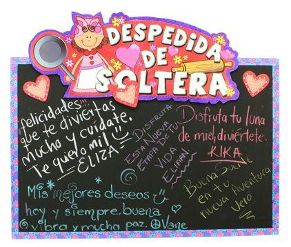 Letrero de buenos deseas para Despedida de Soltera / Pintura para pizarrón / idea original