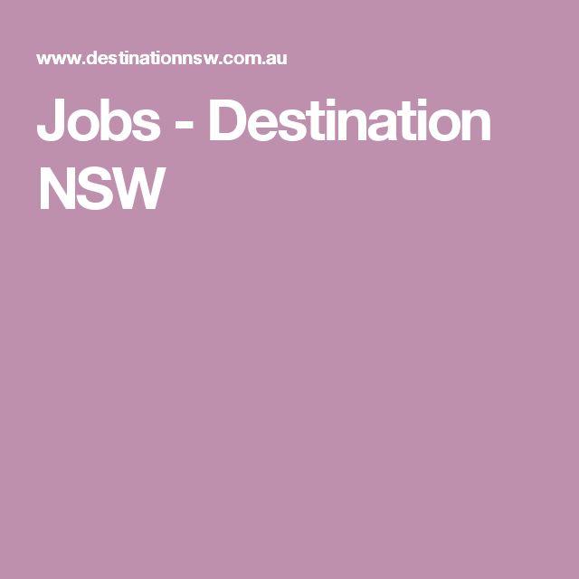 Jobs - Destination NSW