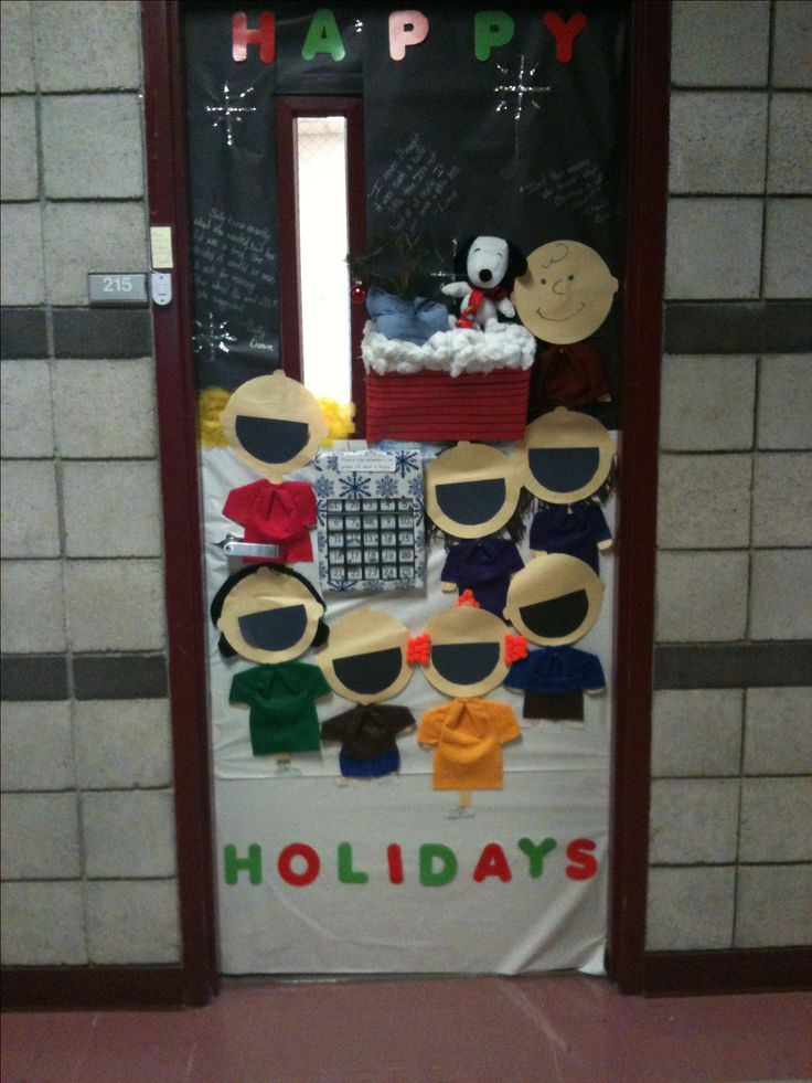 Holiday Door Contest (we won!!!): The students read A Charlie Brown Christmas on a GoTalk. It took a lot of practices but they did it!!