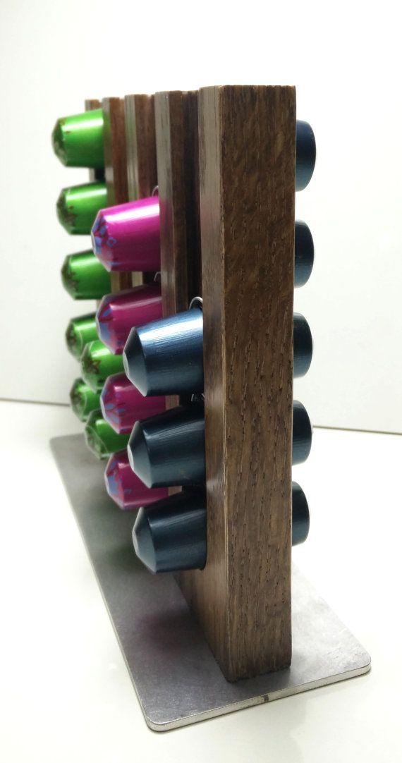 Nespresso Capsules holder / coffee wood storage by WoodNcoffee