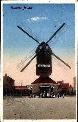 Ak Dülken Viersen, Blick auf die städtische Windmühle