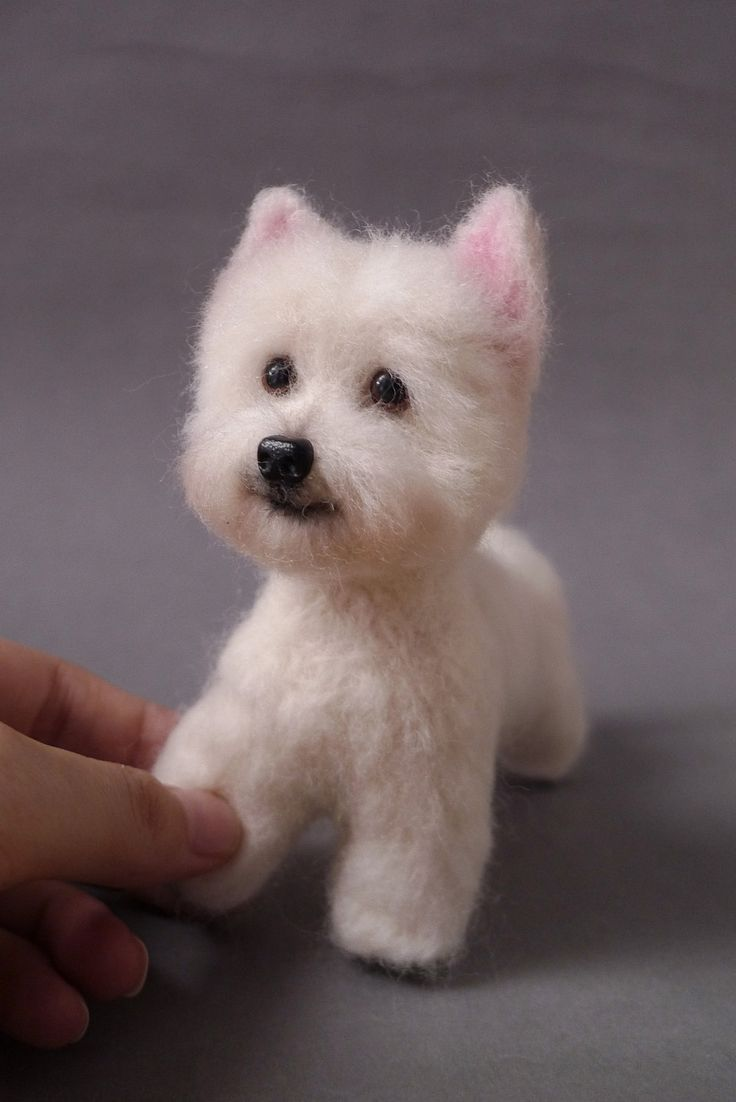 Love the Furkids of Westie Dog needle felted, 6 inch, 15cm