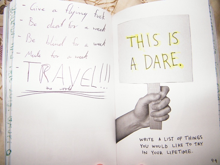 """This Is Not A Book"" Journal - This is a dare"
