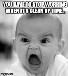 Clean up time