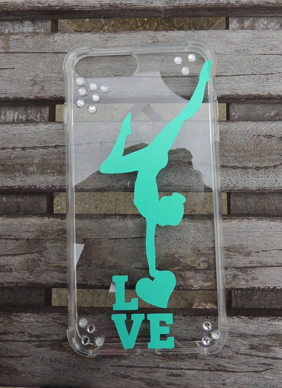 iPhone 7 Plus Gymnastics phone case. Clear with vinyl decals