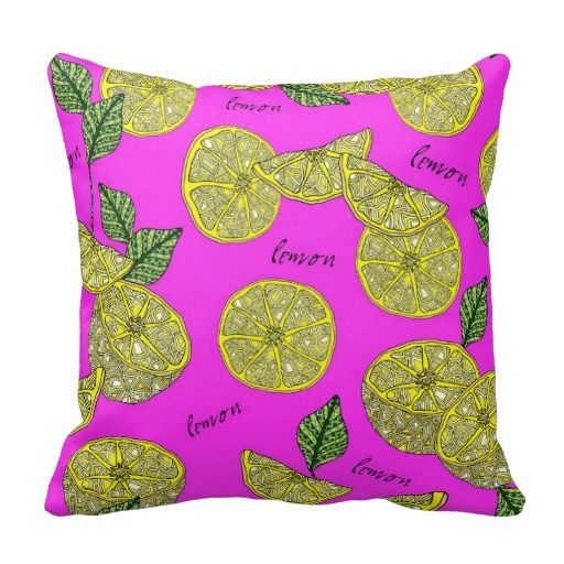 Lovely Lemon Pillow