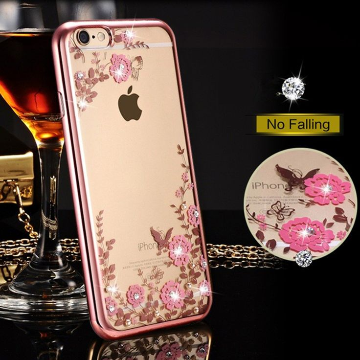 Luxury Diamond Flower Case for iPhone 6s Case 6 Plus Silicone Cover for iPhone 6 6s 7 Plus 5 5s SE TPU Clear Cover Coque Fundas // iPhone Covers Online //   Price: $ 9.95 & FREE Shipping  //   http://iphonecoversonline.com //   Whatsapp +918826444100    #iphonecoversonline #iphone6 #iphone5 #iphone4 #iphonecases #apple #iphonecase #iphonecovers #gadget #gadgets