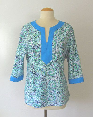 How to Sew a Tunic Top from a Basic Shirt Pattern: Part Two – Sherry Whiteside