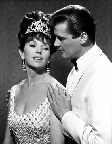 """Vintage Glamour Girls: Dawn Adams & Roger Moore in """" The Saint """""""
