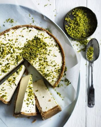Honey and cardamom cheesecake:  250g digestive biscuits, crushed, 150g melted butter,1 tbsp powdered gelatine, 500g cream cheese, 1 tsp cardamom powder, 1 tsp vanilla extract, 1 tbsp lemon juice, ½ cup honey, 300ml thickened cream, ¼ cup crushed pistachios. Combine biscuits and butter in lined 20cm springform tin, refrigerate 20mins. Dissolve gelatine in ¼ cup of hot water. Beat cream cheese, cardamom powder, vanilla extract, lemon juice, honey and gelatine together until combined and…