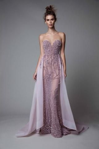 2c56f9ad77e3 Rhinestones Tulle Beaded Gown in 2019 | Evening dresses | Dresses ...