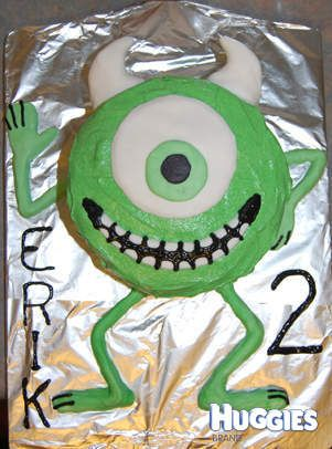 Mike from Monsters Inc Cake