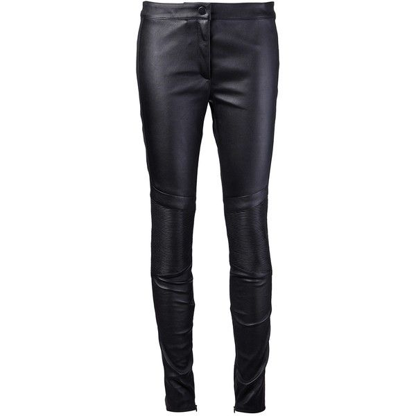 BELSTAFF 'Wilton' legging ($1,017) ❤ liked on Polyvore featuring pants, leggings, bottoms, jeans, trousers, leather panel leggings, black panel leggings, skinny leggings, black leggings and panel leggings