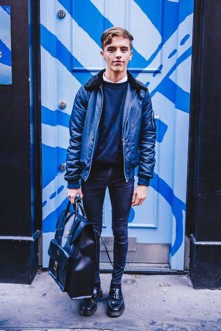 Wearing Dr. Martens Adrian Loafers and the Leather Backpack