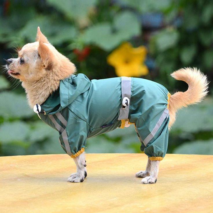Dog or Cat Glisten Bar Hoody Waterproof Rain Raincoat.