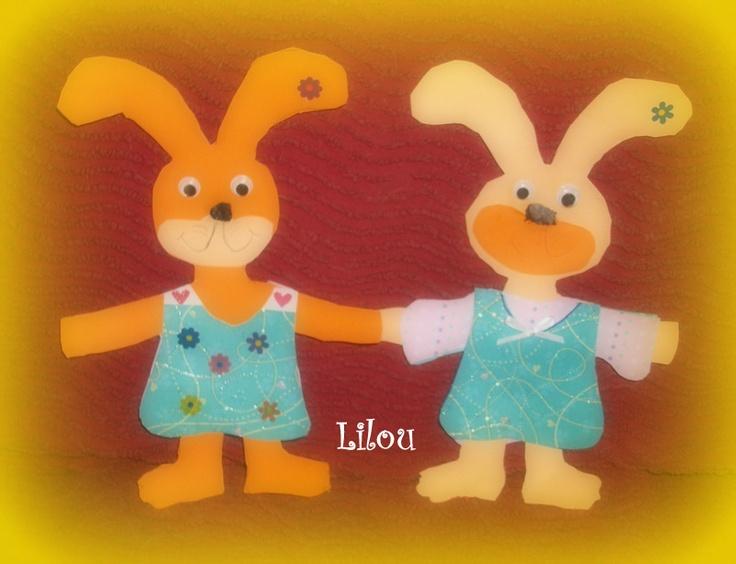 lapins en carton