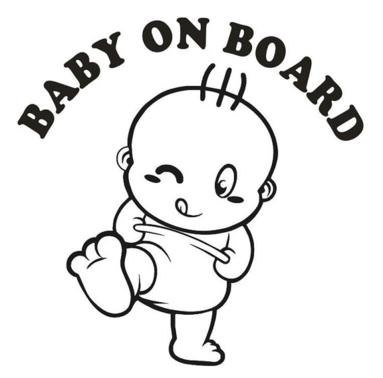 Baby On Board Vehicle / Wall Vinyl Decal Sticker by JPVinylDesign, $6.99