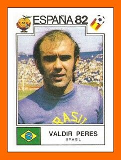 Valdir Peres of Brazil. 1982 Wold Cup Finals card.