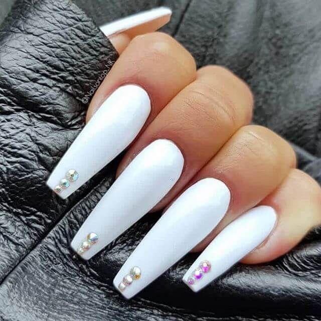 Cute Nail Designs With Multicolor Diamonds Diamond Nail Designs Classy Nails Classy Nail Designs