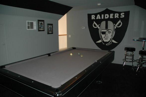 Oakland Raiders Man Cave Ideas : Raiders man cave fan pinterest